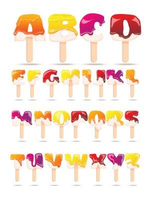Фотообои Melting Ice Cream Алфавит Плоский Баннер