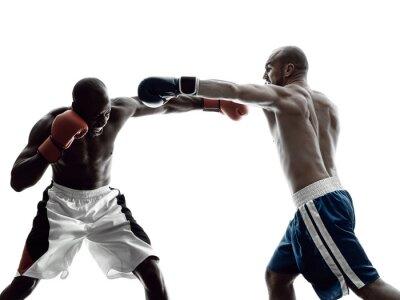Фотообои мужчины боксеры бокс изолированных силуэт