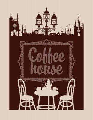 Фотообои меню для кафе с изображением кадра и старого города
