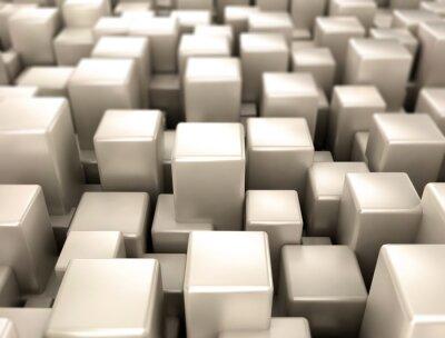 Фотообои Металлические кубы металлические формы фон