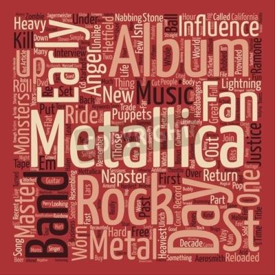 Фотообои Metallica St Anger текст фона слово облако концепция
