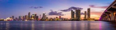 Фотообои Майами горизонты города панорама в сумерках