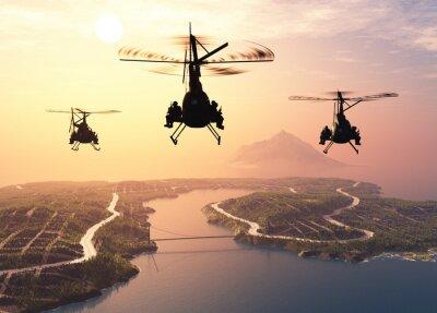 Фотообои Военный вертолет