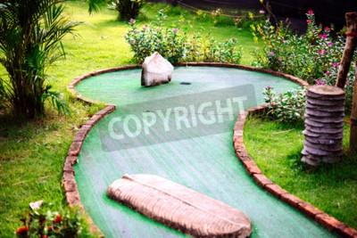 Фотообои Мини-гольф-клуб, оформленный в тайском стиле