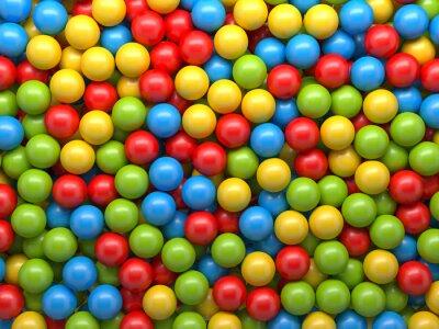 Фотообои фон смешанный цвет шаров