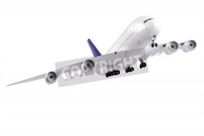 Фотообои Современный самолет на белом фоне.