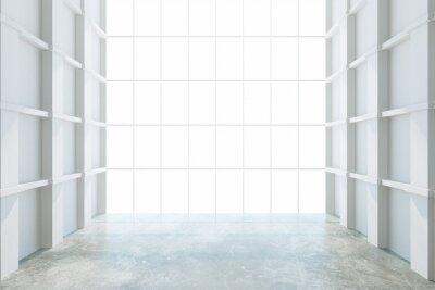 Фотообои Современные пустая комната с большим окном