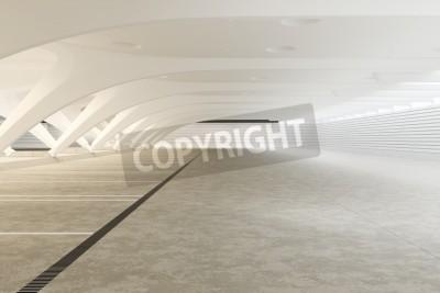 Фотообои Современный футуристический интерьер пуст абстрактный