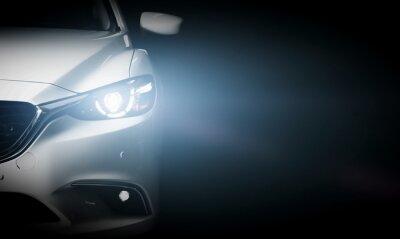 Фотообои Современный роскошный автомобиль крупным планом фон баннера