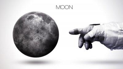 Фотообои Луна - Высокое разрешение лучшее качество Солнечной системы планеты. Все планеты доступны. Это элементы изображения, предоставляемые НАСА