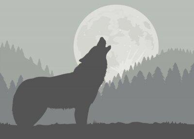 Фотообои Луна Волк