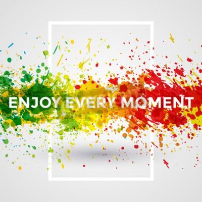 Фотообои Мотивация яркие краски Брызги вектор Акварельные Плакат