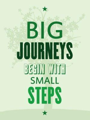 Фотообои Мотивационный плакат - большие путешествия начинаются с небольшими шагами