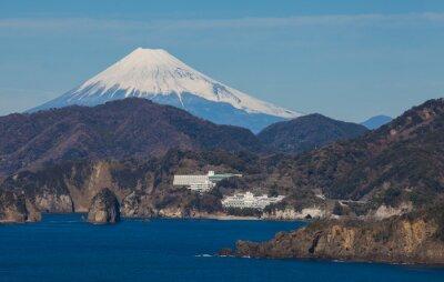 Фотообои Гора Фудзи и море от города Идзу префектуры Сидзуока, Япония.