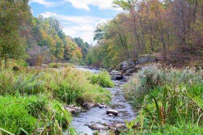 Фотообои горная река осенью