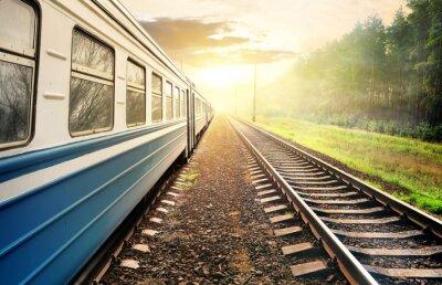 Фотообои Перемещение поезда