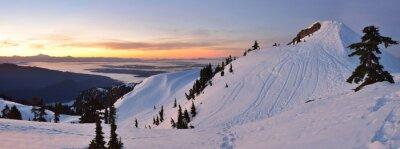 Фотообои Mt. Сеймур первый насос Пик зимний восход, Vancouve