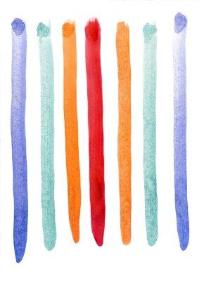 Фотообои Разноцветные полосы акварель