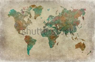 Фотообои урожай фон карты мира