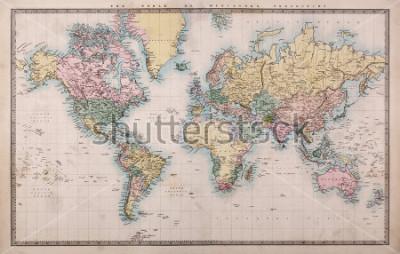 Фотообои Около 1860 года, когда они были тогда, т.е. Персия, Аравия и т. Д., Несколько пятен, как ожидалось, для карты