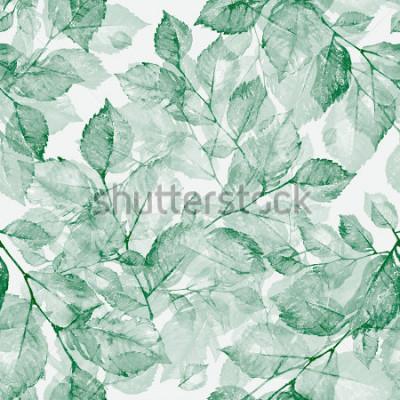Фотообои Акварель яркие прекрасные листья бесшовные модели Z. Замечательная печать акварельными эскизами вручную. Ретро. Vintage. Тонированное.