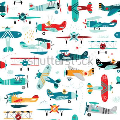 Фотообои Самолеты мальчиков бесшовные модели
