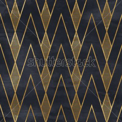 Фотообои Бесшовный геометрический узор на бумажной текстуре. Фон Ар-деко,