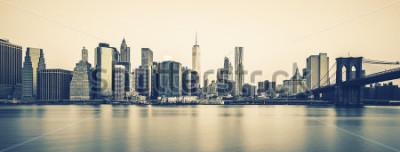 Фотообои Панорамный вид в центре города, специальная фотографическая обработка