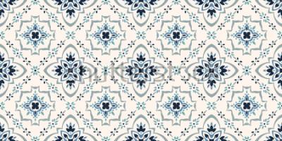 Фотообои Талавера. Azulejos Португалия. Турецкий орнамент. Мозаичная мозаика из марокканской плитки. Испанский фарфор. Керамическая посуда, народная печать. Испанская керамика. Этническое происхождение. Средиз