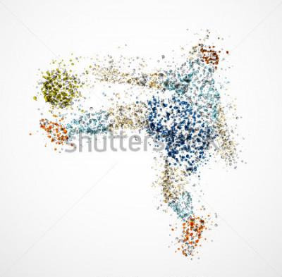 Фотообои Футболист, удар мяча. EPS 10