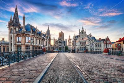 Фотообои Гент, Бельгия в день, старый город Гент
