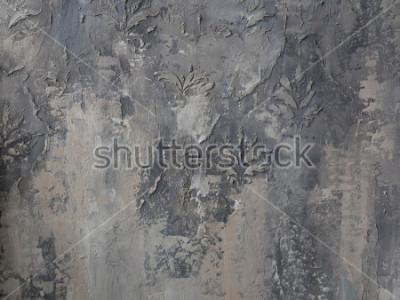 Фотообои орнамент на серой бетонной стене