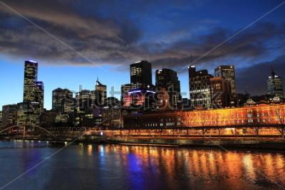 Фотообои Мельбурн ночной вид Австралия