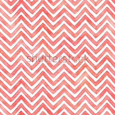 Фотообои Фламинго розовая акварель шеврон шаблон