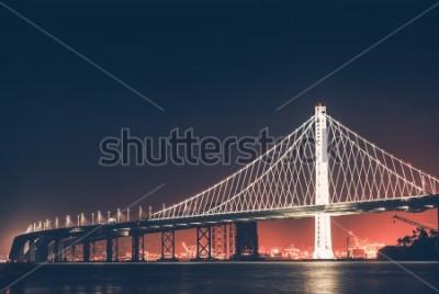 Фотообои Окленд Бэй Бридж ночью. Сан-Франциско - Окленд, Калифорния, США.