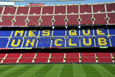 Фотообои Закрыть вверх футбольного стадиона Камп Ноу в Барселоне, Испания.