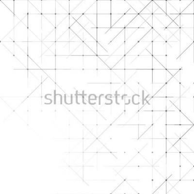 Фотообои Геометрический простой минималистичный фон. Треугольники, пунктиром. Векторная иллюстрация