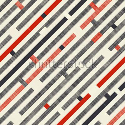 Фотообои Бесшовные текстуры с диагональными полосами на фоне текстуры в цвете ретро. Бесконечный узор можно использовать для керамической плитки, обоев, линолеума, текстиля, фонари веб-страницы.
