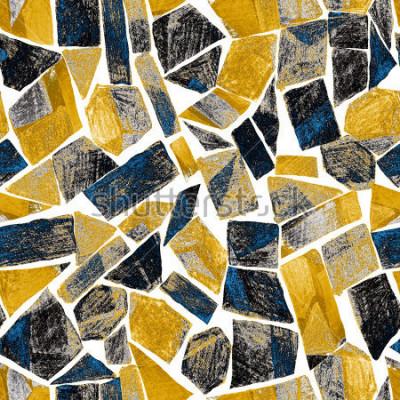 Фотообои Абстрактная акварель бесшовные модели. Работа в геометрическом современном стиле. Современный. Витраж.
