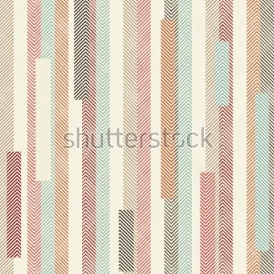 Фотообои Бесшовные абстрактный красочный полосатый рисунок. Бесконечный узор можно использовать для керамической плитки, обоев, линолеума, текстиля, фонари веб-страницы.
