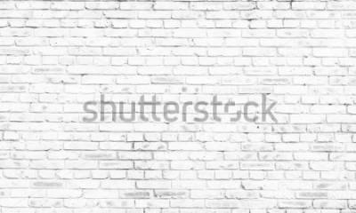 Фотообои белая кирпичная стена фон в сельской комнате,