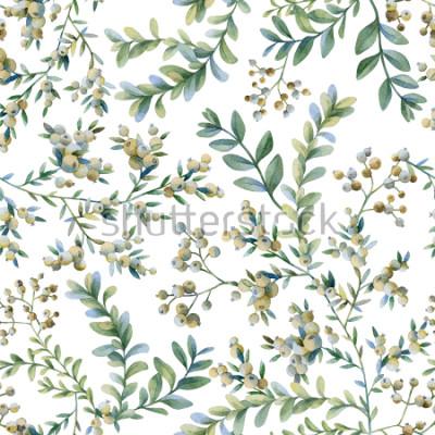 Фотообои Ботаническая иллюстрация. Ботанический принт. Бесшовные модели