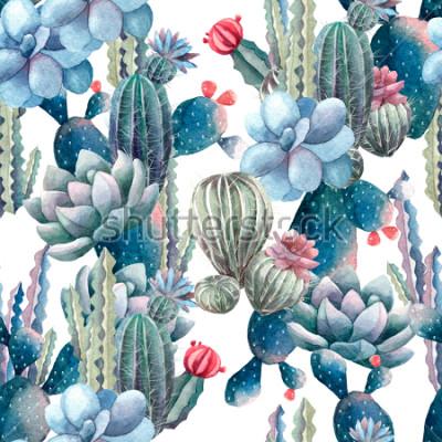 Фотообои акварельный рисунок кактуса