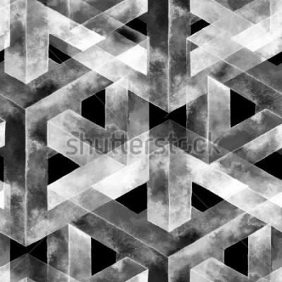 Фотообои Бесшовные из оптического обмана. Акварель необычной текстуры. Нарисованная рукой иллюстрация для обоев, предпосылки и знамени.