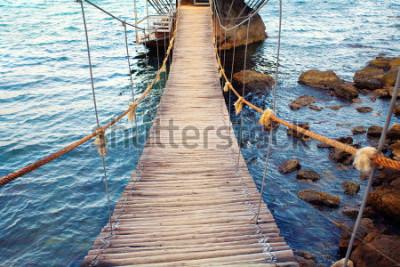 Фотообои Веревочный мост