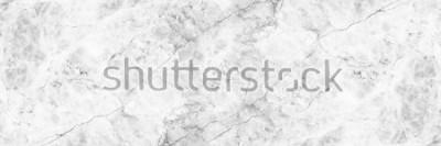 Фотообои горизонтальный элегантный белый мрамор фон.