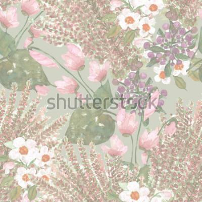 Фотообои Цветы бесшовные модели