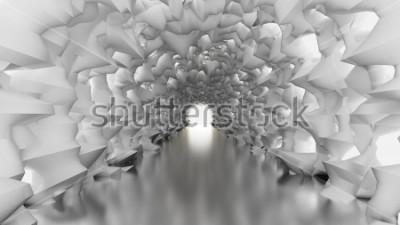 Фотообои Белый туннель и свет. 3d иллюстрация, перевод 3d.