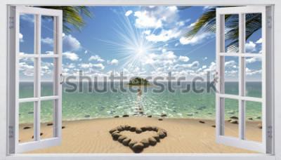 Фотообои Открытое окно с видом на море
