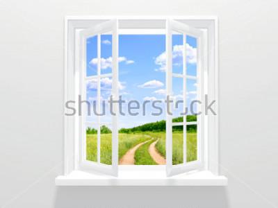 Фотообои Открытое окно и старая дорога